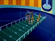 Феи подбрасывают Блум в комнате симуляций 110