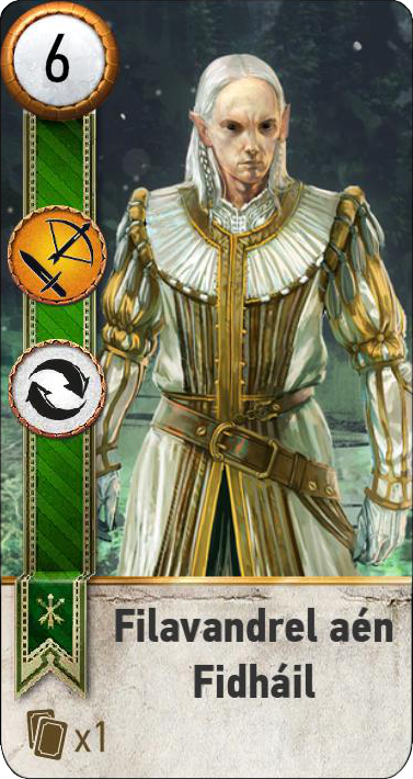 Filavandrel aen Fidhail (gwent card)