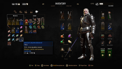 The Witcher 3 Wild Hunt Inventory NEW RGB