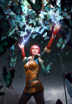 Gwent cardart neutral triss butterflies