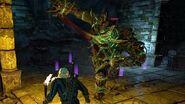 The Witcher 3 Golem Boss Fight (Hard Mode)