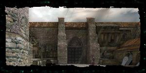 les portes du cimetière