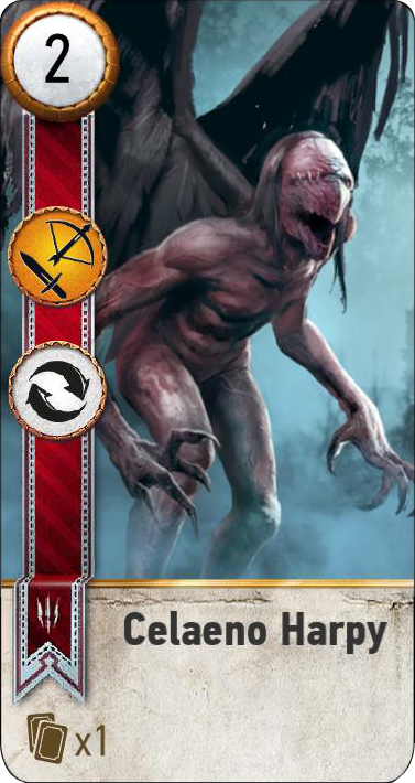 Celaeno Harpy (gwent card)