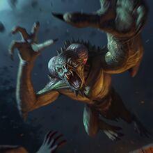 Gwent cardart monsters garkain.jpg