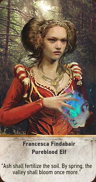 Francesca Findabair: Pureblood Elf (gwent card)