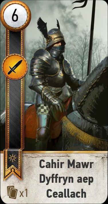Cahir Mawr Dyffryn aep Ceallach (gwent card)