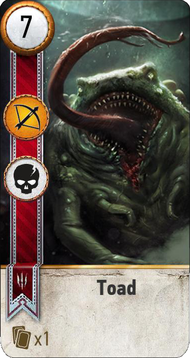 Toad (gwent card)