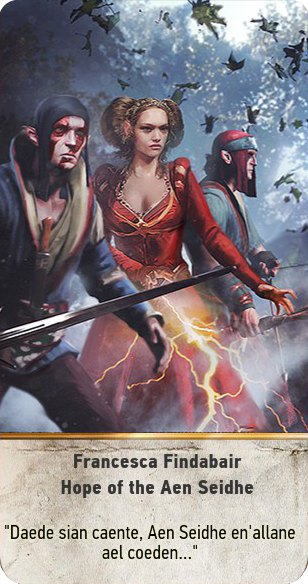 Francesca Findabair: Hope of the Aen Seidhe (gwent card)