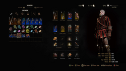 The Witcher 3 Wild Hunt Inventory OLD RGB