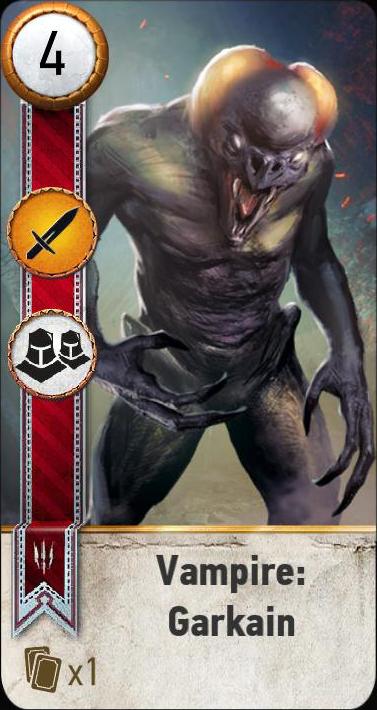 Vampire: Garkain (gwent card)