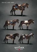 Skellige horse armor concept art