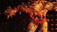 The Witcher 3 Fire Elemental Boss Fight (Hard Mode)
