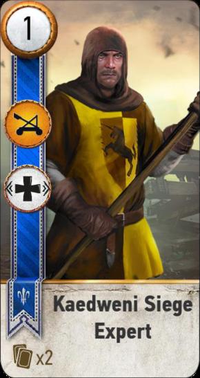 Kaedweni Siege Expert (gwent card)