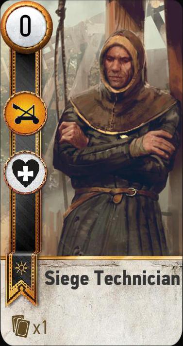 Siege Technician (gwent card)