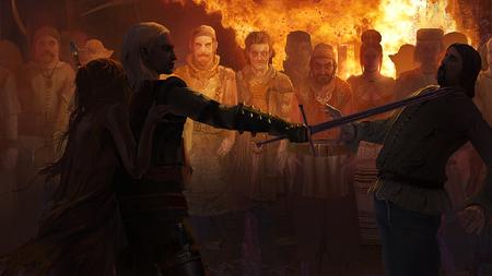 Geralt schützt Abigail