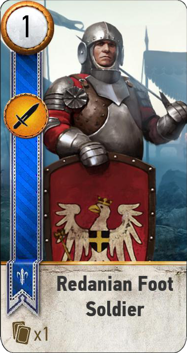 Redanian Foot Soldier (gwent card)