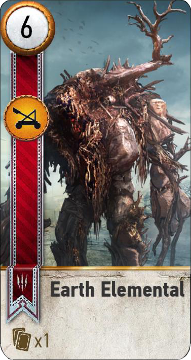 Earth Elemental (gwent card)
