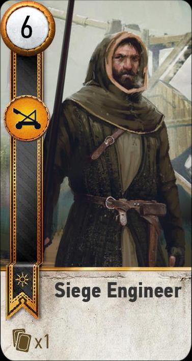 Siege Engineer (gwent card)