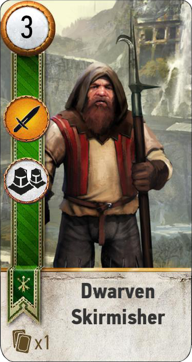 Dwarven Skirmisher (gwent card)