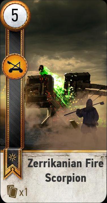 Zerrikanian Fire Scorpion (gwent card)