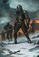 Gwent cardart monsters wild hunt warrior