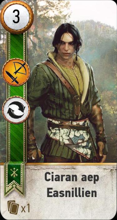 Ciaran aep Easnillien (gwent card)