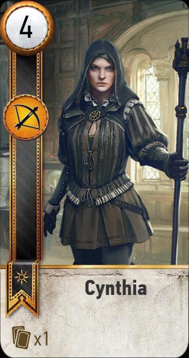 Cynthia (gwent card)