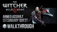 The Witcher 3 Wild Hunt Walkthrough Armed Assault Secondary Quest Guide Gameplay Let's Play