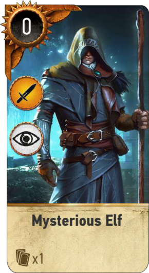 Mysterious Elf (gwent card)