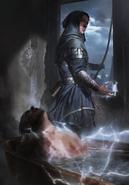 Gwent cardart nilfgaard mage assassin