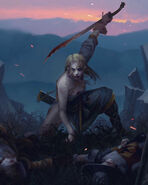 Gwent cardart scoiatael elven swordmaster