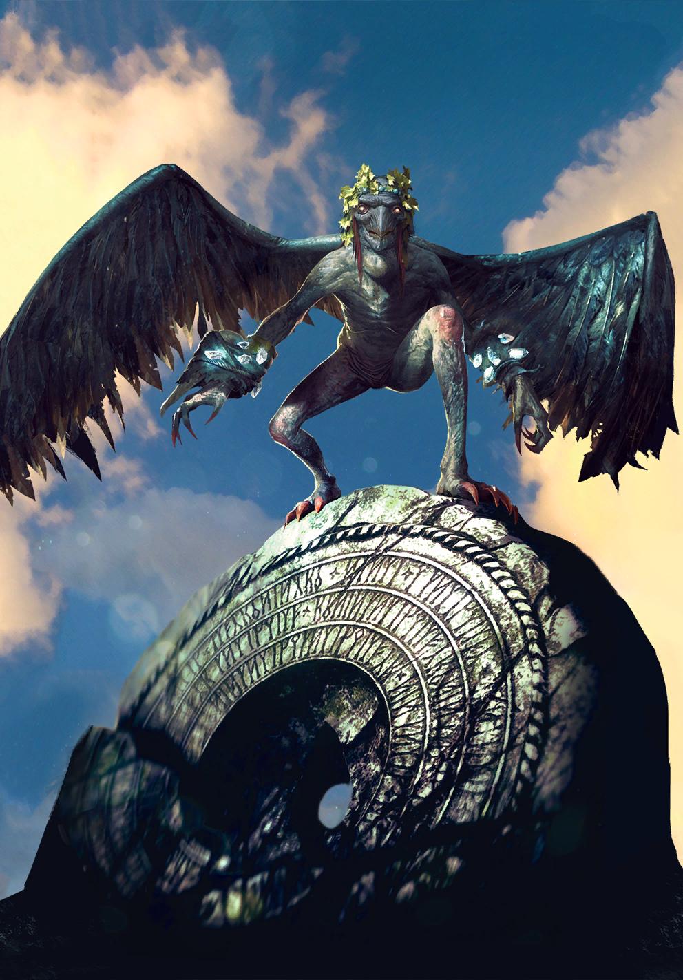 Celaeno Harpy (Thronebreaker card)