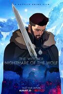 The witcher nightmare of the wolf poster