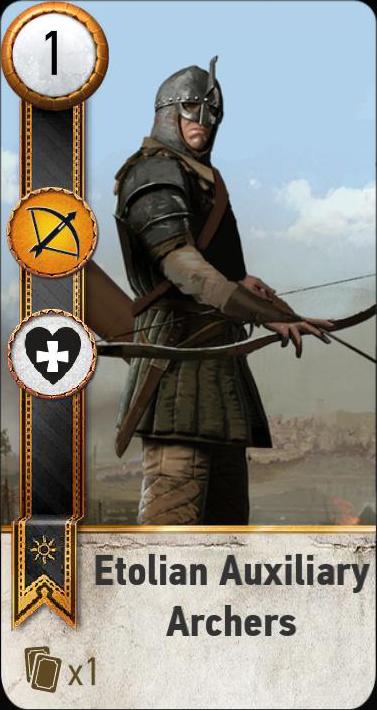 Etolian Auxiliary Archers (gwent card)