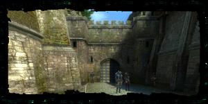 Porte des marchands, vue du Quartier des marchands