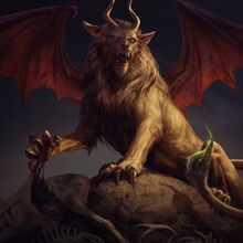 Gwent cardart monsters manticore combined.jpg