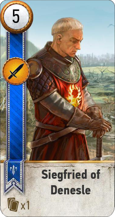 Siegfried of Denesle (gwent card)