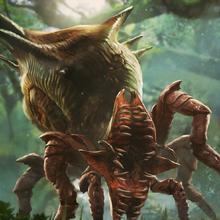Gwent cardart monsters arachas behemoth.png