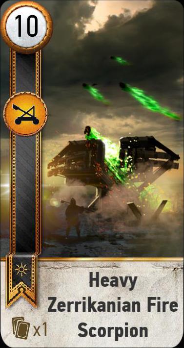 Heavy Zerrikanian Fire Scorpion (gwent card)