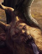 Gwent cardart unknown manticore trophy