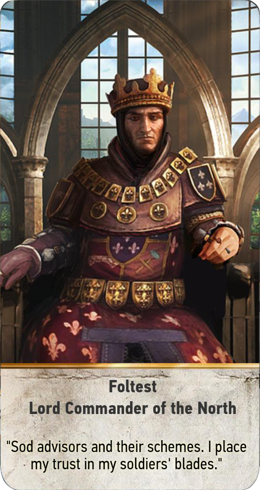 Foltest: Lord Commander of the North (gwent card)