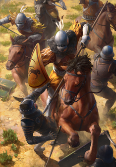 Gwent cardart unknown kaedweni heavy cavalry.png