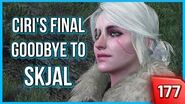 Witcher 3 - Taking Ciri to Skjal's Grave for her Final Goodbye (Ciri Punches a Guy!) 177