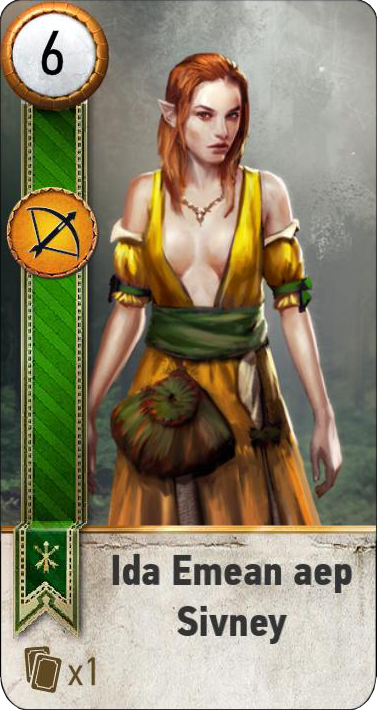 Ida Emean aep Sivney (gwent card)