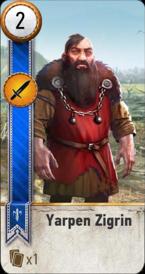 Yarpen Zigrin (gwent card)