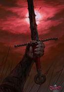 Gwent cardart neutral hen gaidth sword