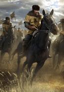 Gwent cardart northern dun banner light cavalry