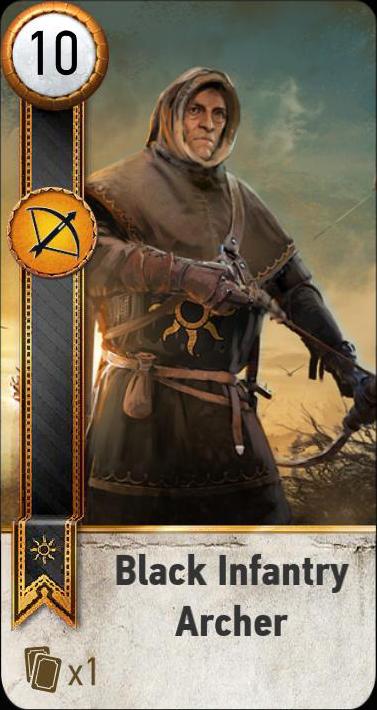 Black Infantry Archer (gwent card)