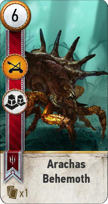 Arachas Behemoth (gwent card)