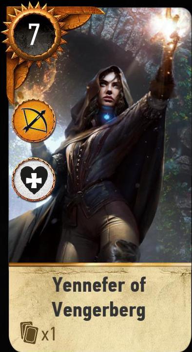 Yennefer of Vengerberg (gwent card)